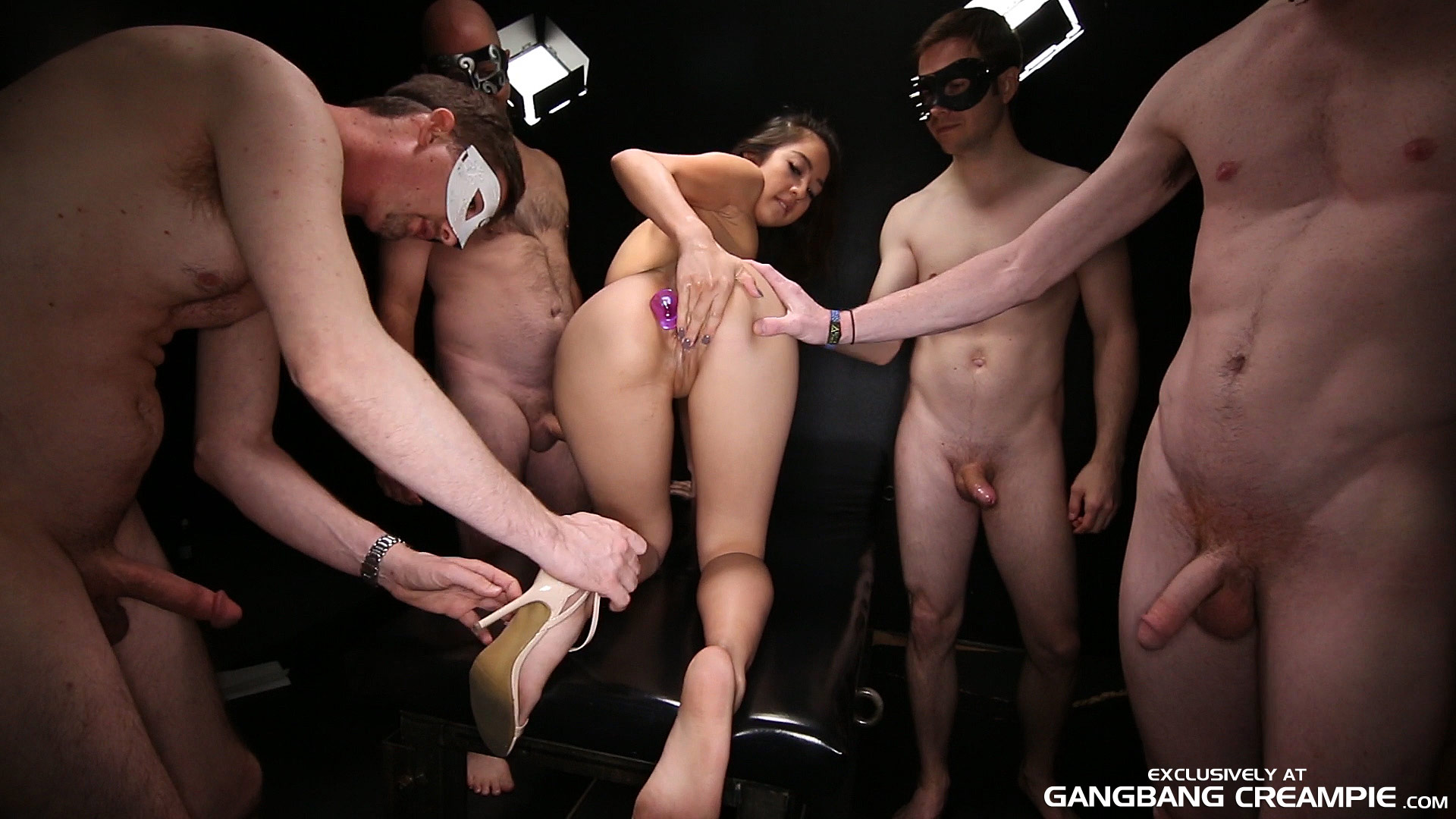 Big Tits Ass Mouth Gangbang